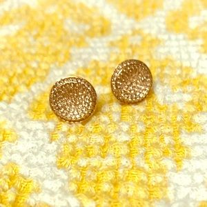 Michael Kors Concave Sparkle Studs in Rose Gold